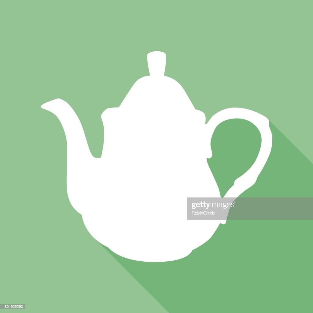 Green Tea Pot Icon : stock illustration