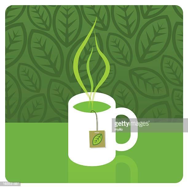 green tea - green tea stock illustrations, clip art, cartoons, & icons