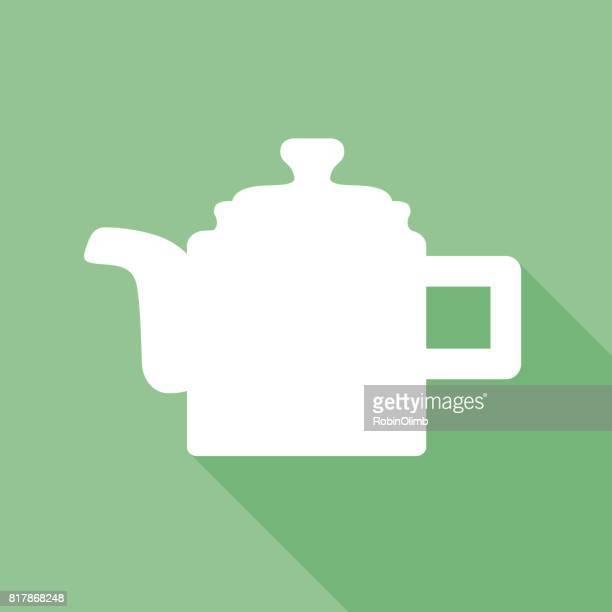 green teapot icon - steeping stock illustrations, clip art, cartoons, & icons