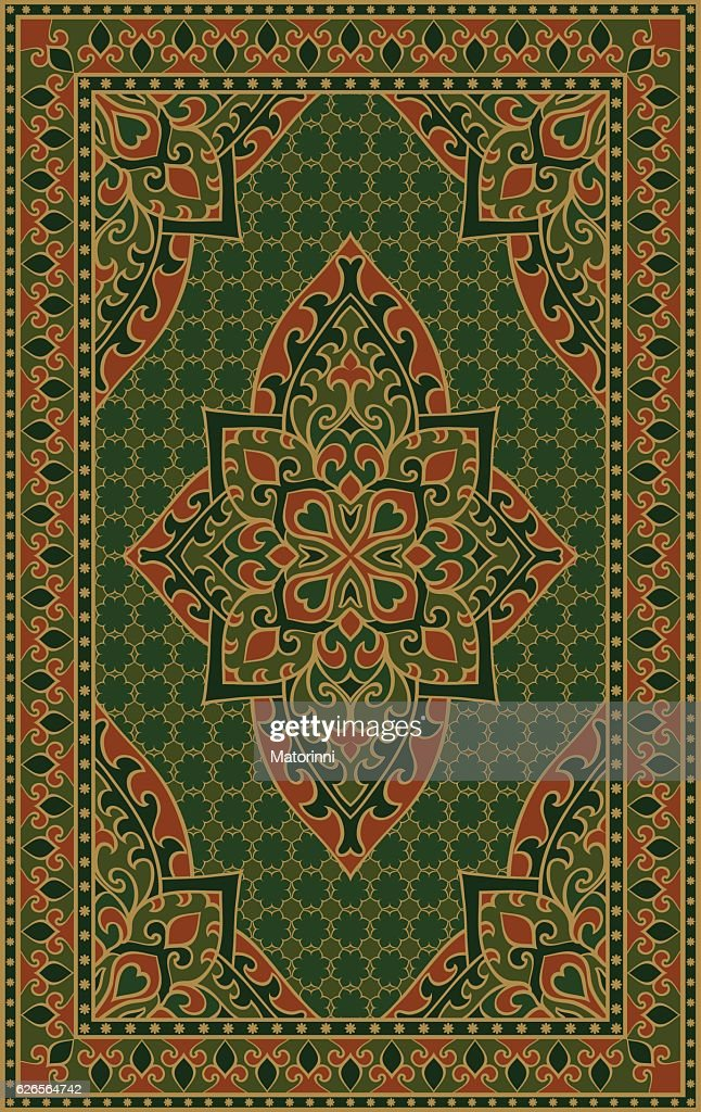 Green template for carpet.