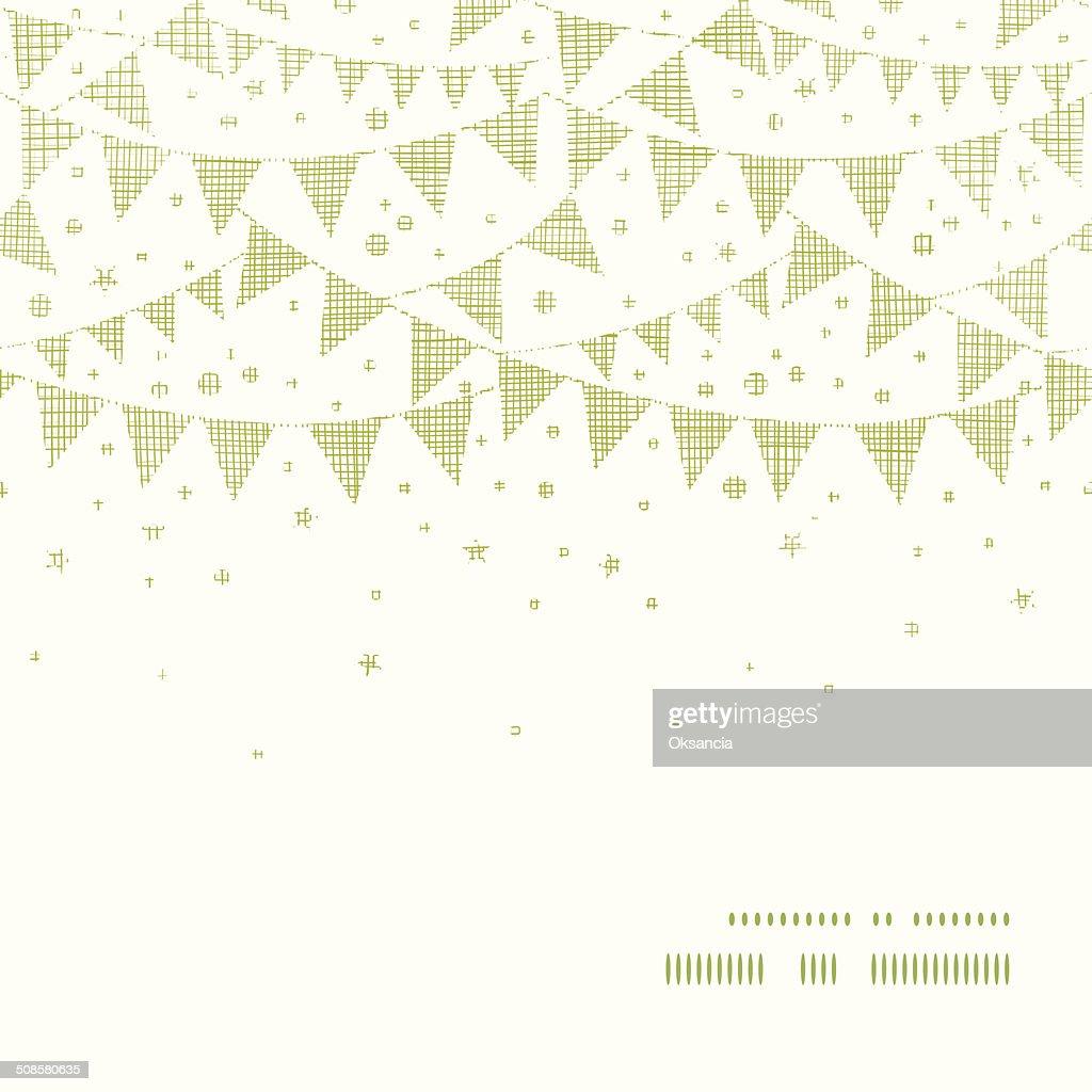 グリーンパーティホオジロホライゾンタル繊維フレームのシームレスなパターン背景 : ベクトルアート
