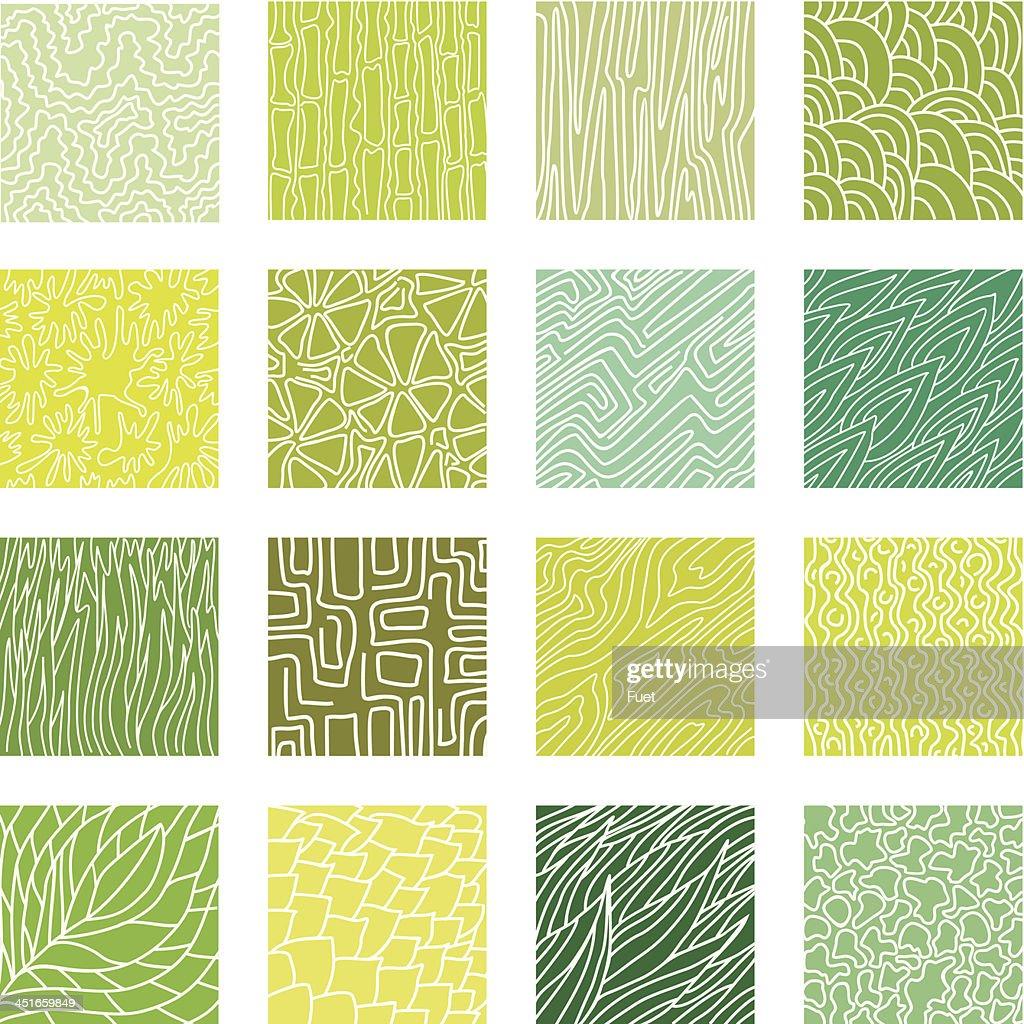 Green textures set