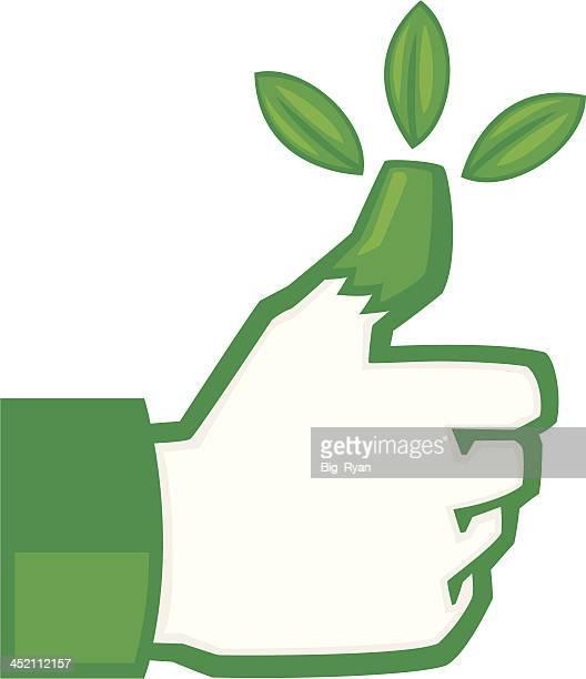 green thumb - green thumb stock illustrations
