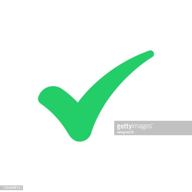 green tick and confirm icon vector design. - checkbox stock illustrations