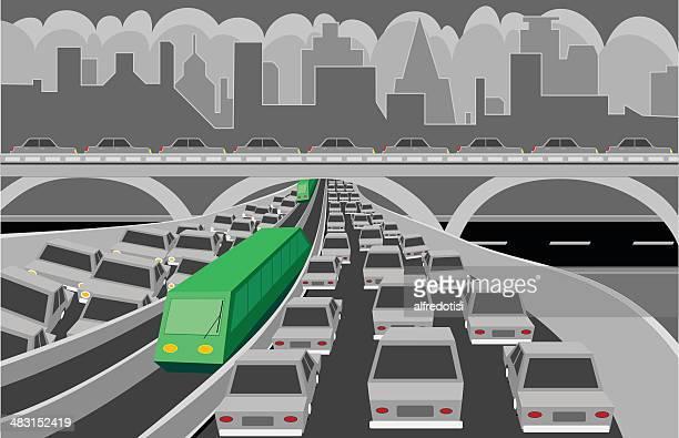 green transportation - commuter stock illustrations, clip art, cartoons, & icons