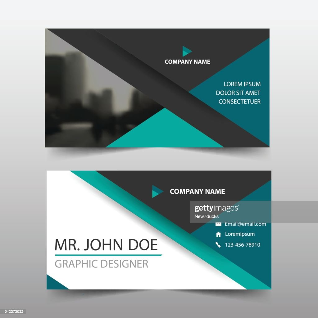 Green triangle corporate business card header template flat design green triangle corporate business card header template flat design set vector art accmission Gallery