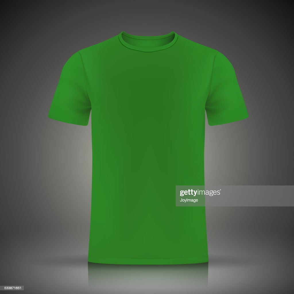 green tshirt template vector art getty images
