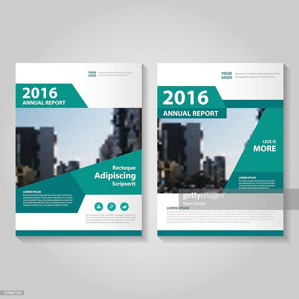 Green Vector annual report Leaflet Brochure Flyer template design