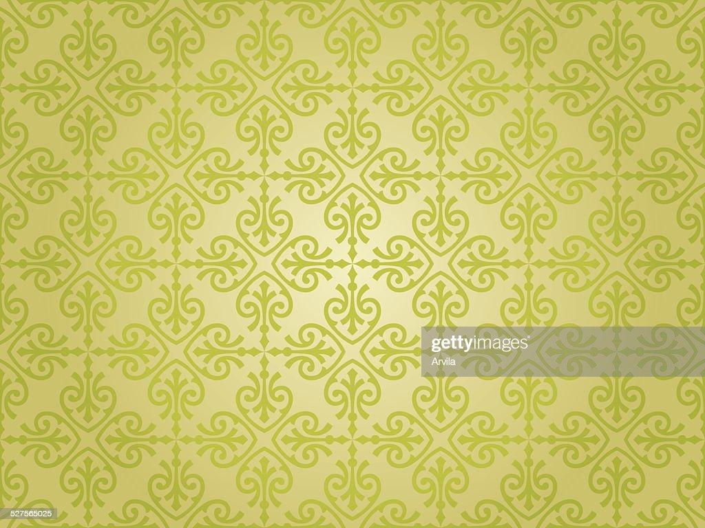 green vintage wallpaper design