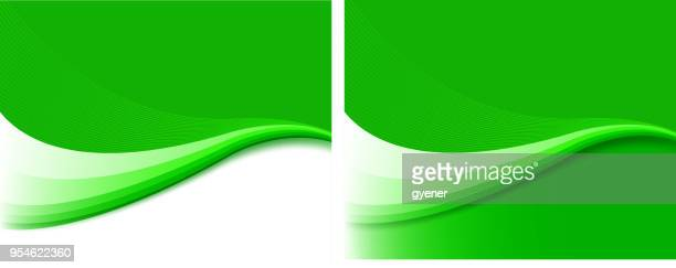 green wave shape - green background stock illustrations, clip art, cartoons, & icons