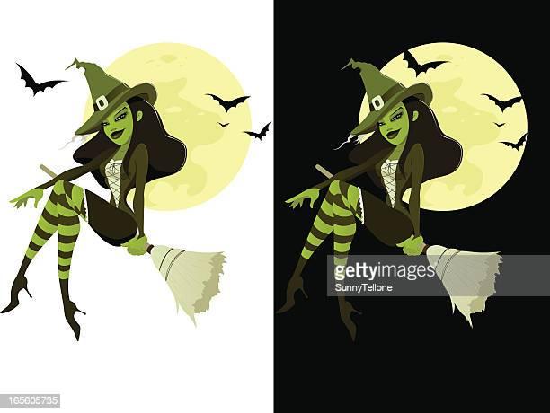 green hexe - hexe stock-grafiken, -clipart, -cartoons und -symbole