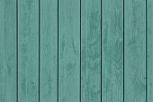 Green wooden panels.