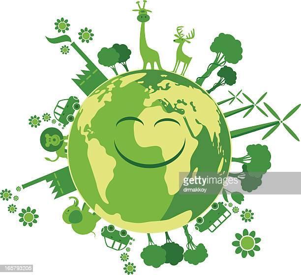 green world - biodiesel stock illustrations, clip art, cartoons, & icons