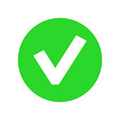Green YES BUTTON icon. OK symbol. Vector