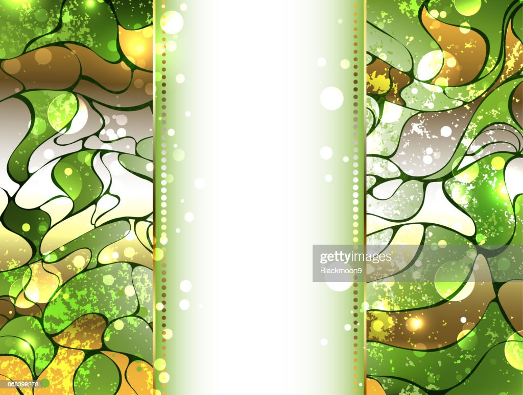 Greenery gem background
