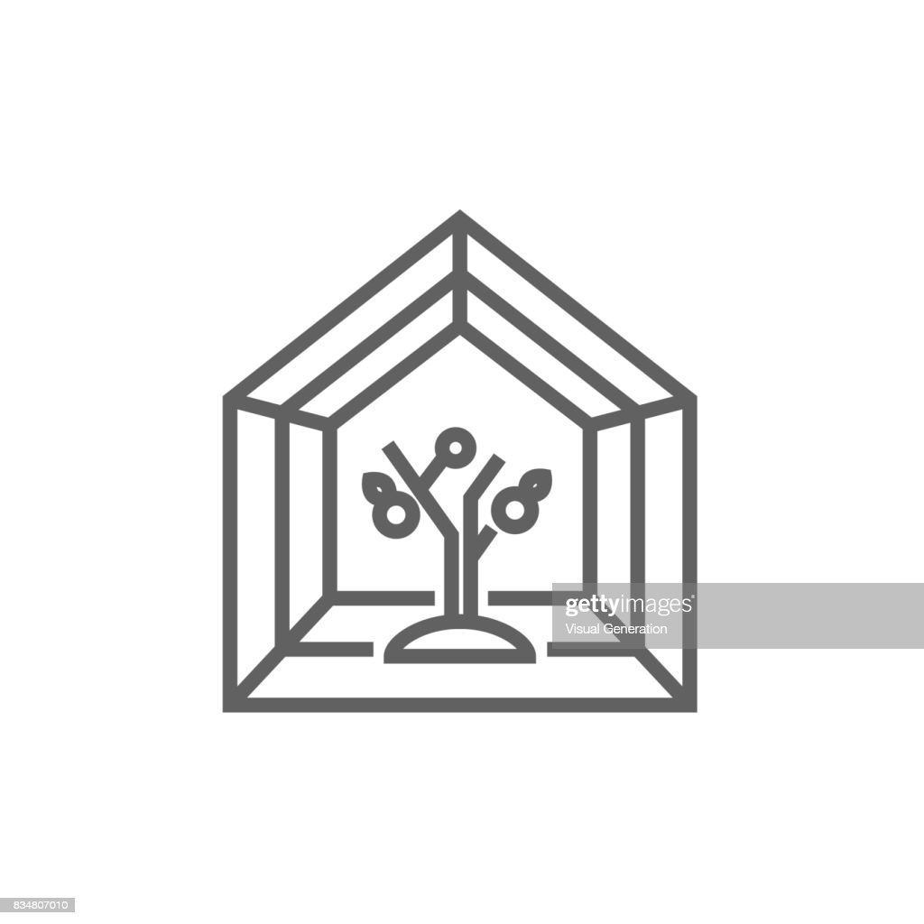 Greenhouse line icon