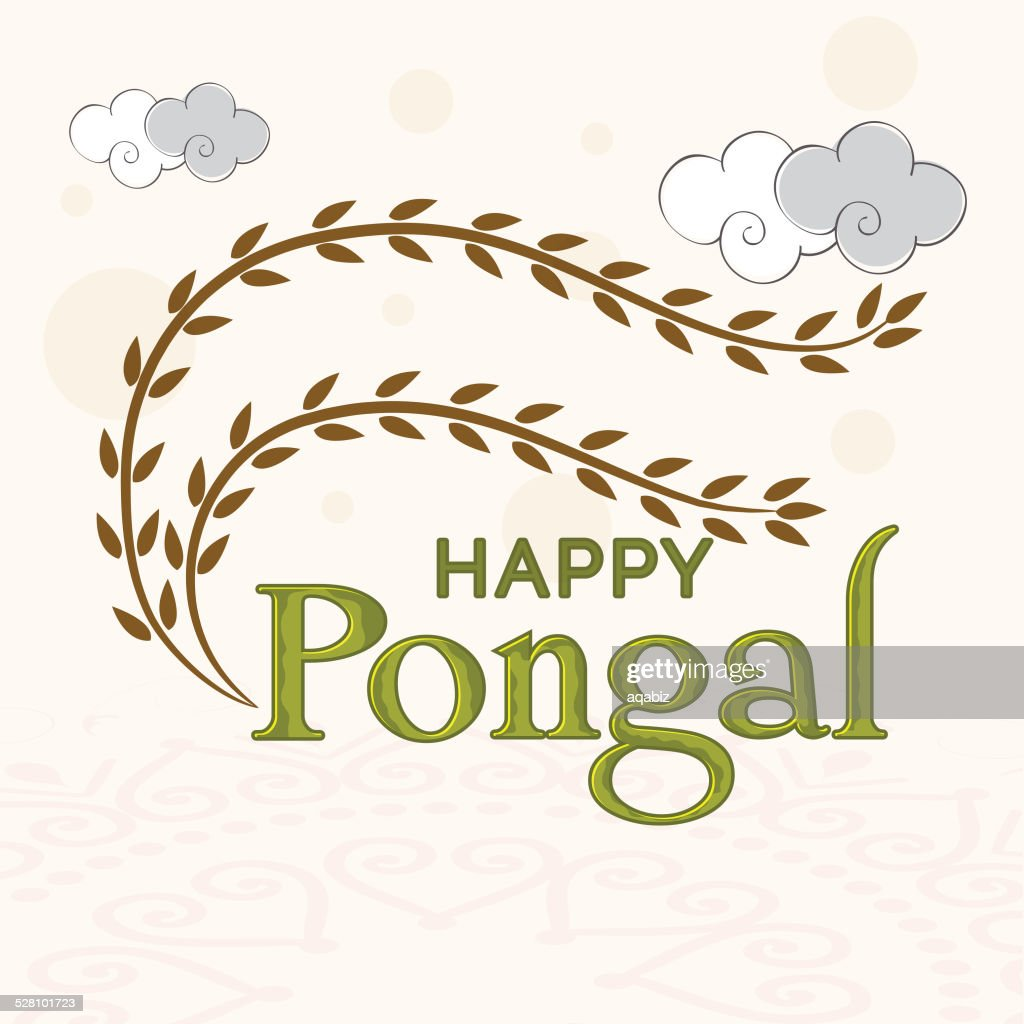 Greeting Card Design For Happy Pongal Festival Celebrations Vector