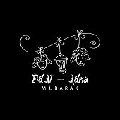 Greeting card design for Muslim community festival Eid-Al-Adha