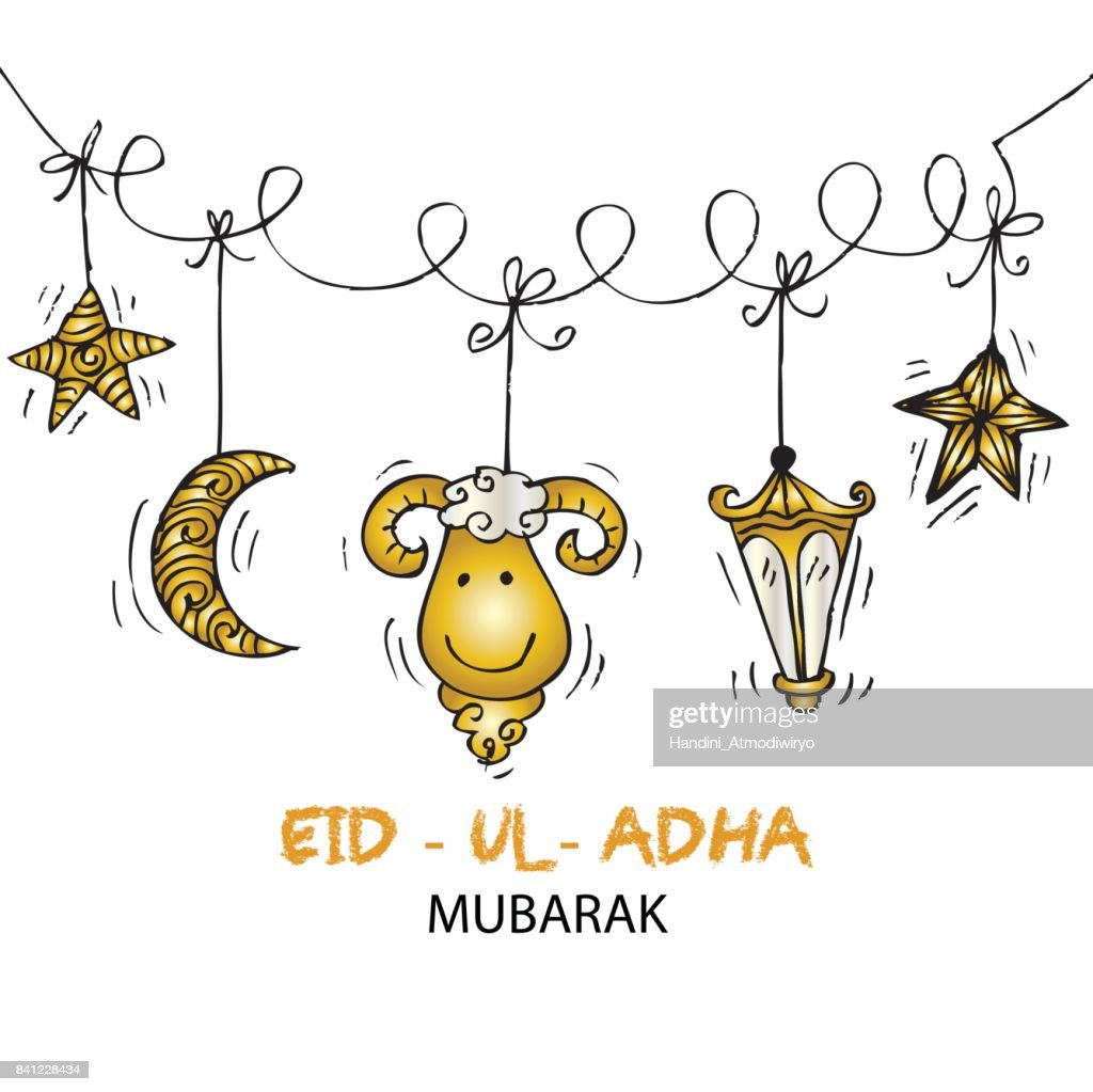 Greeting card design for Muslim community festival Eid-Ul-Adha