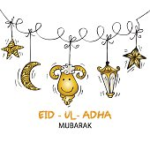 Greeting card design for Muslim community festival Eid-Ul-Adha