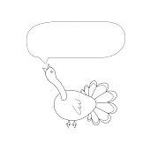Greeting card. Doodle bird.