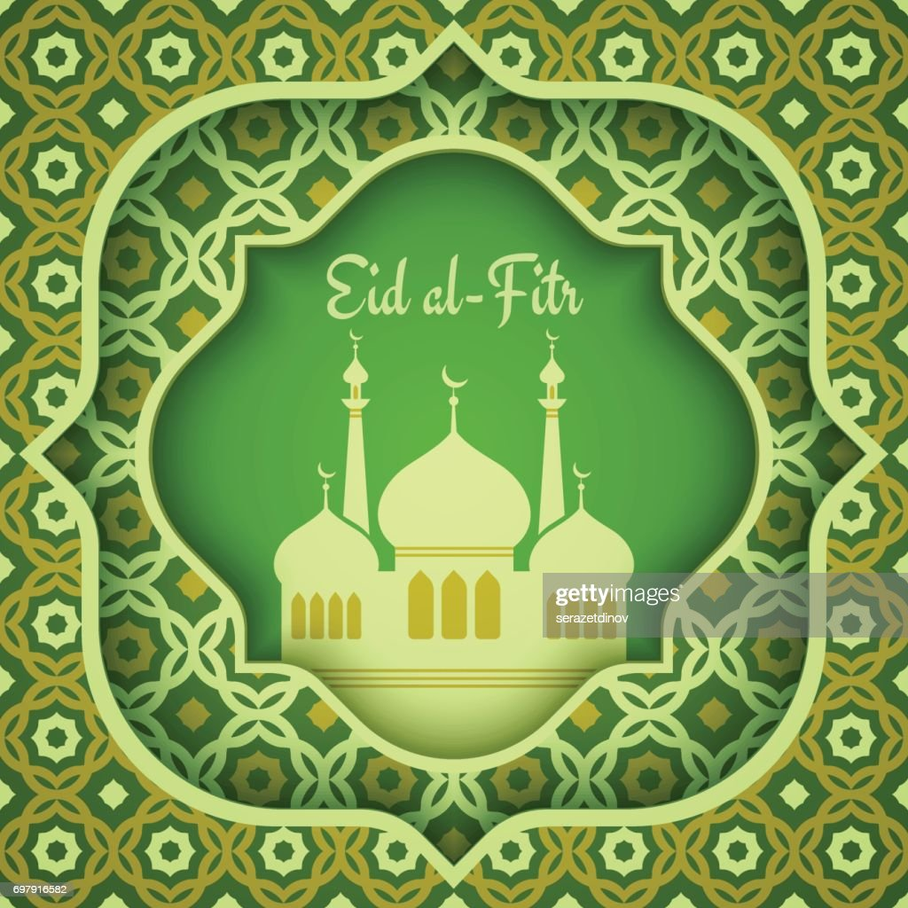 Greeting card for eid alfitr vector art getty images greeting card for eid al fitr kristyandbryce Images