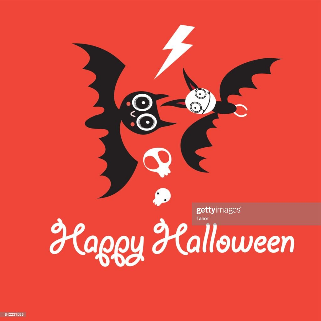 Greeting Card For Halloween Vector Art Getty Images