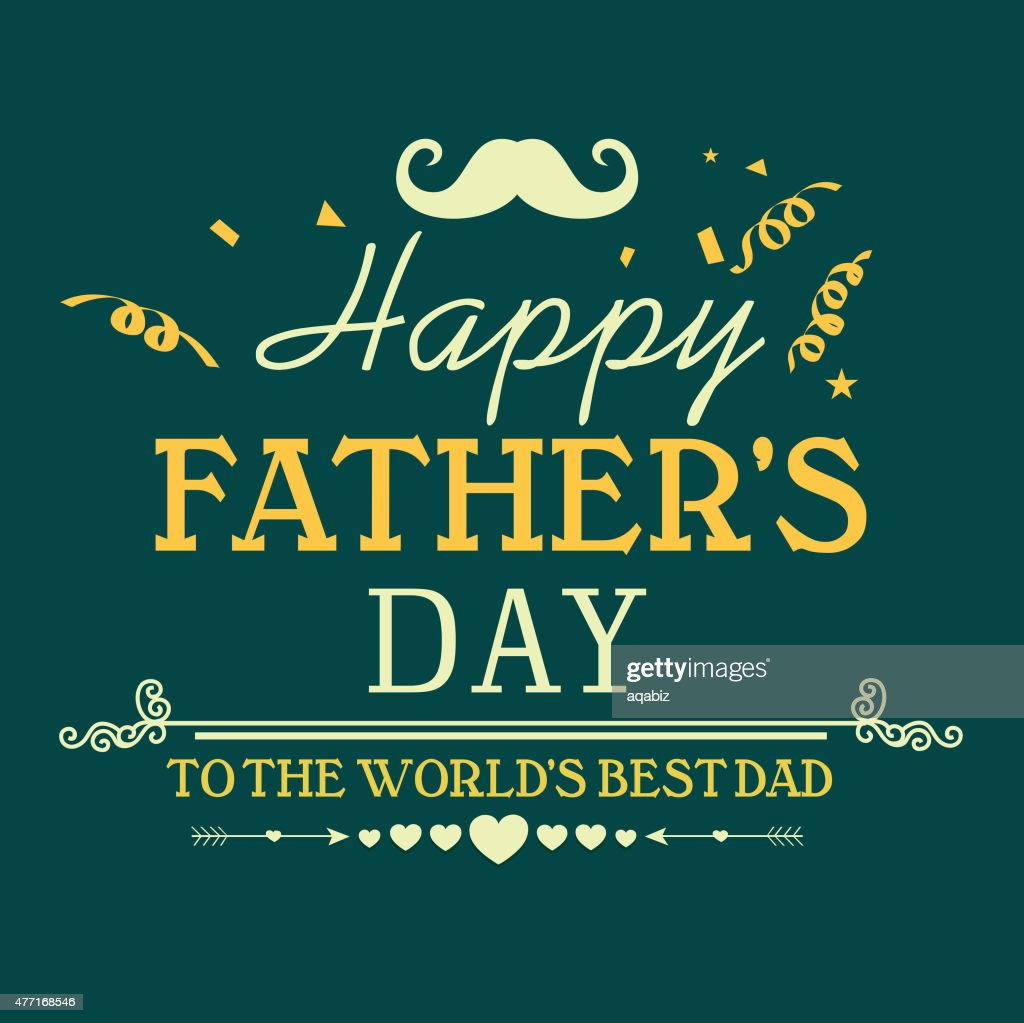 Greeting card for Happy Father's Day celebration.