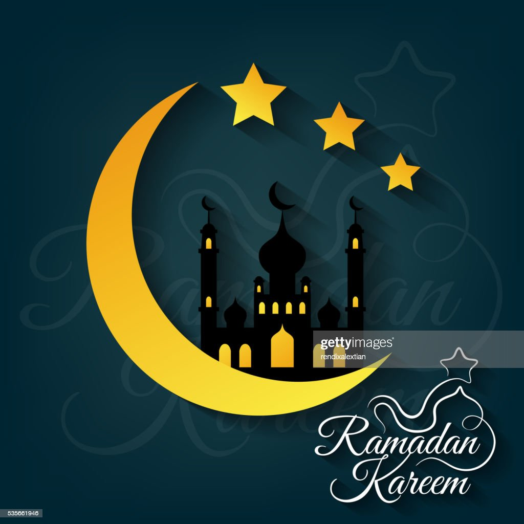 Greeting card for Islamic holy month of prayers
