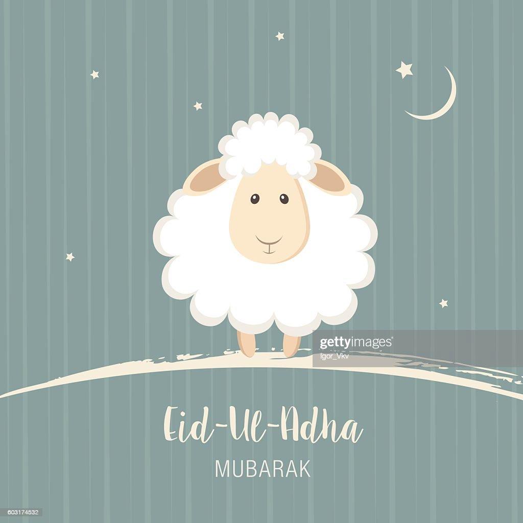 Greeting card for Muslim Community Festival of Sacrifice Eid-Ul-Adha