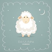 Greeting card for Muslim Community Festival of Sacrifice Eid-Ul-Adha