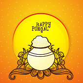 Greeting card for Pongal celebration.