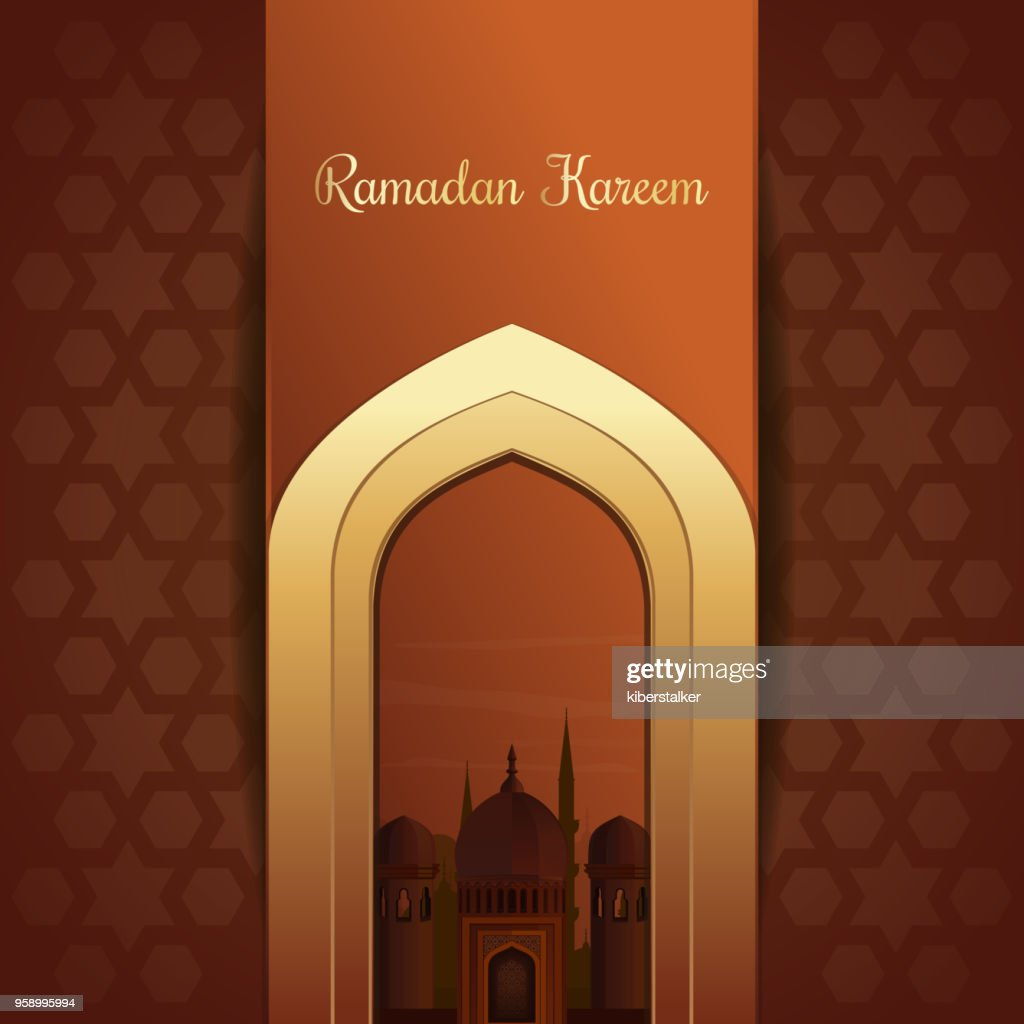 Greeting card for the holy month of Ramadan
