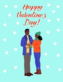 greeting card for valentines day couple