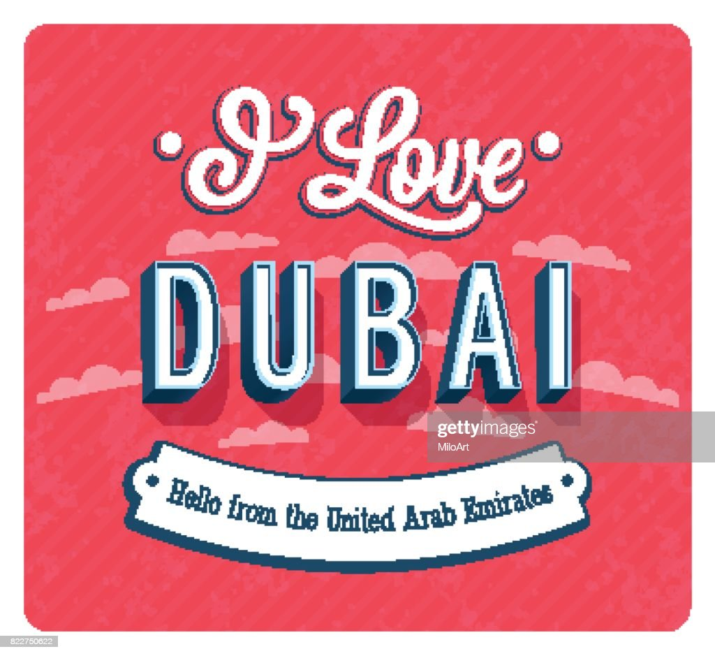 Greeting card from Dubai - United Arab Emirates.