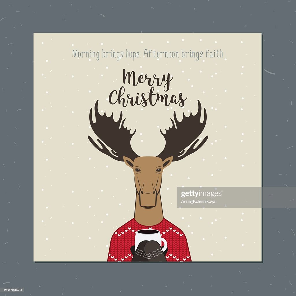 Greeting card: Merry Christmas.