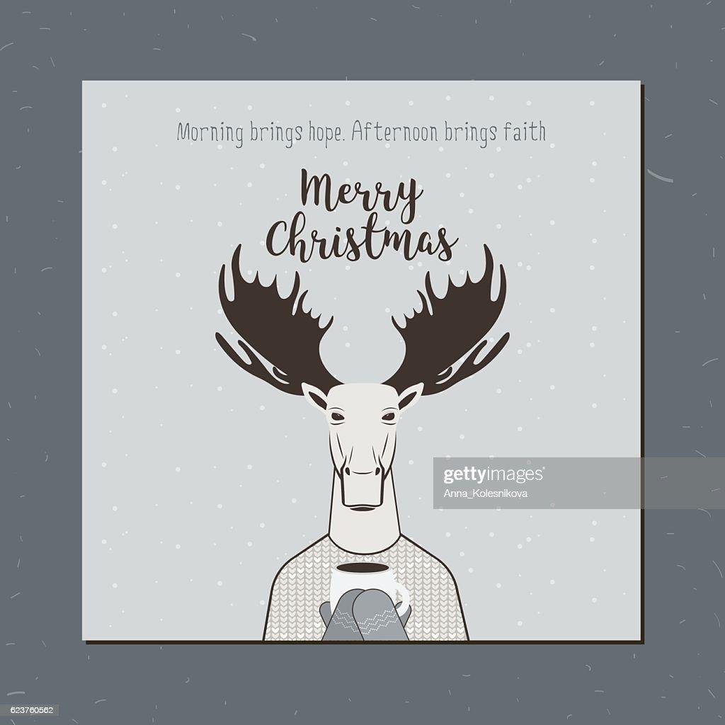 Greeting card: Merry Christmas.