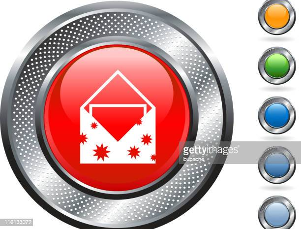 greeting card royalty free vector art on metallic button - anniversary card stock illustrations