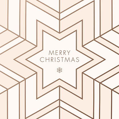 Greeting card with geometric Snowflake - gettyimageskorea