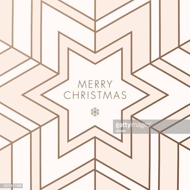 grußkarte mit geometrischen schneeflocke - farbiger hintergrund stock-grafiken, -clipart, -cartoons und -symbole