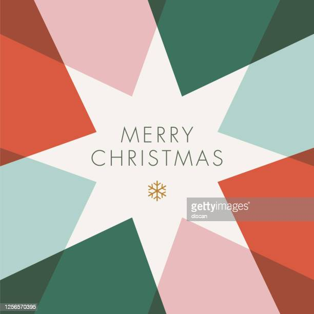 greeting card with geometric star. - christmas stock illustrations