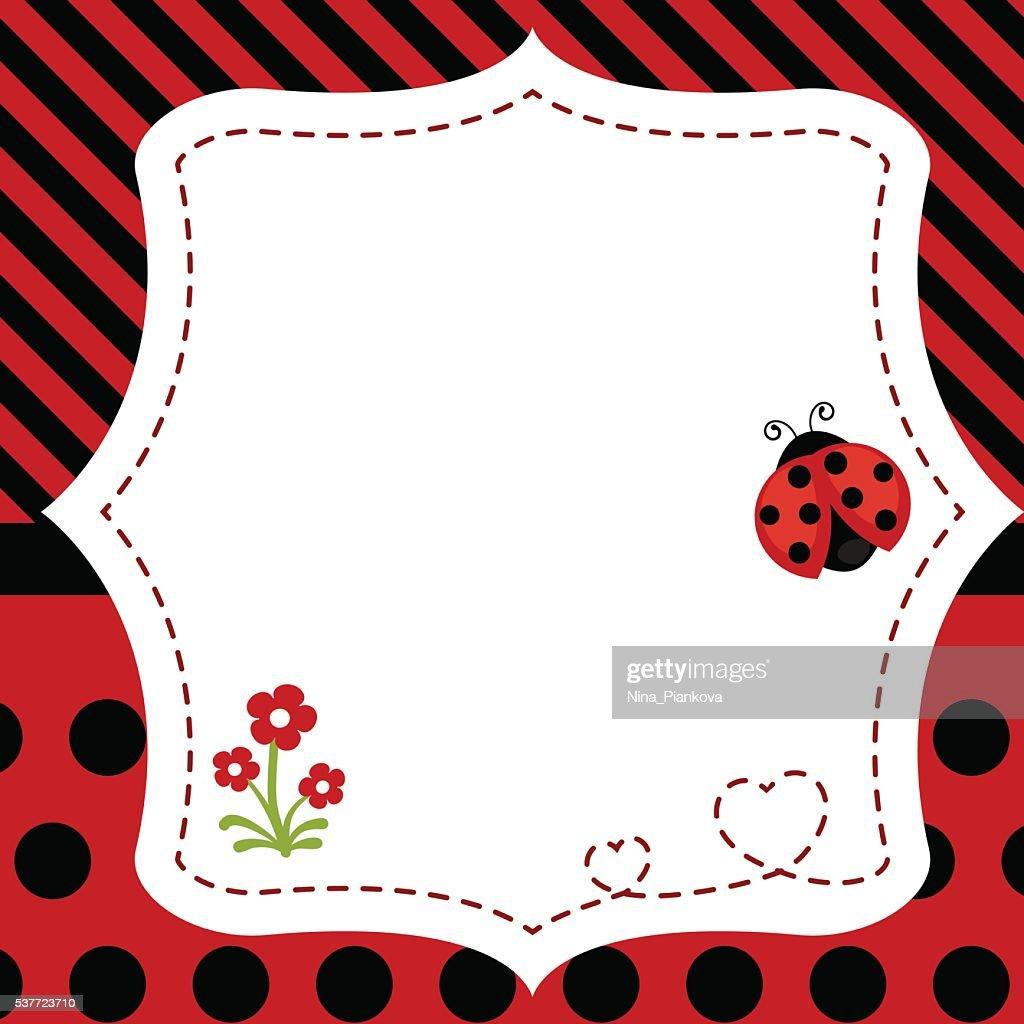 Greeting card with ladybug.
