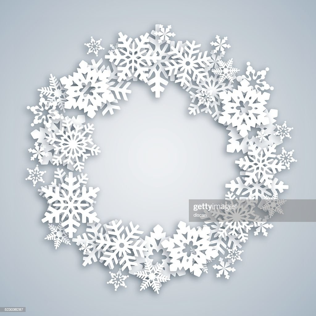 Greeting card with Snow Wreath : stock illustration