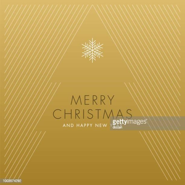 ilustraciones, imágenes clip art, dibujos animados e iconos de stock de tarjeta de felicitación con árbol de navidad estilizado. - papel de aluminio