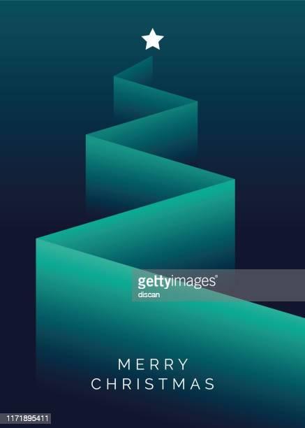 ilustrações de stock, clip art, desenhos animados e ícones de greeting card with stylized christmas tree. - árvore de natal