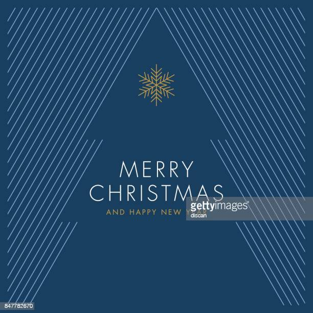 greeting card with stylized christmas tree - simplicity stock illustrations, clip art, cartoons, & icons