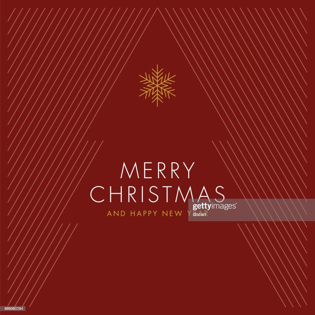様式化されたクリスマス ツリーでグリーティング カード。 : ストックイラストレーション