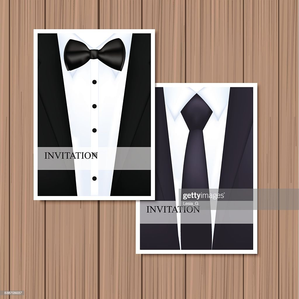 Greeting card with suit