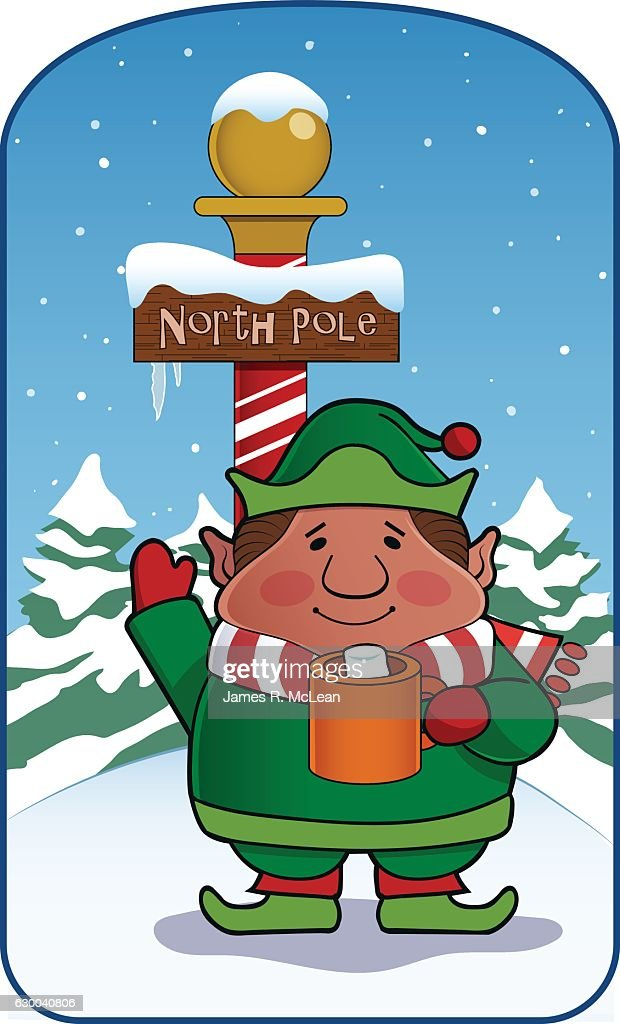 Greetings from the north pole vector art getty images greetings from the north pole vector art m4hsunfo