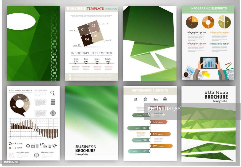 Gren creative backgrounds and abstract concept infographics